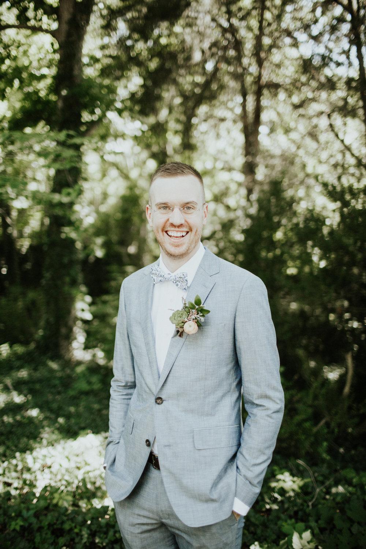 Succulent Boutonniere // Nashville Botanic Garden Wedding