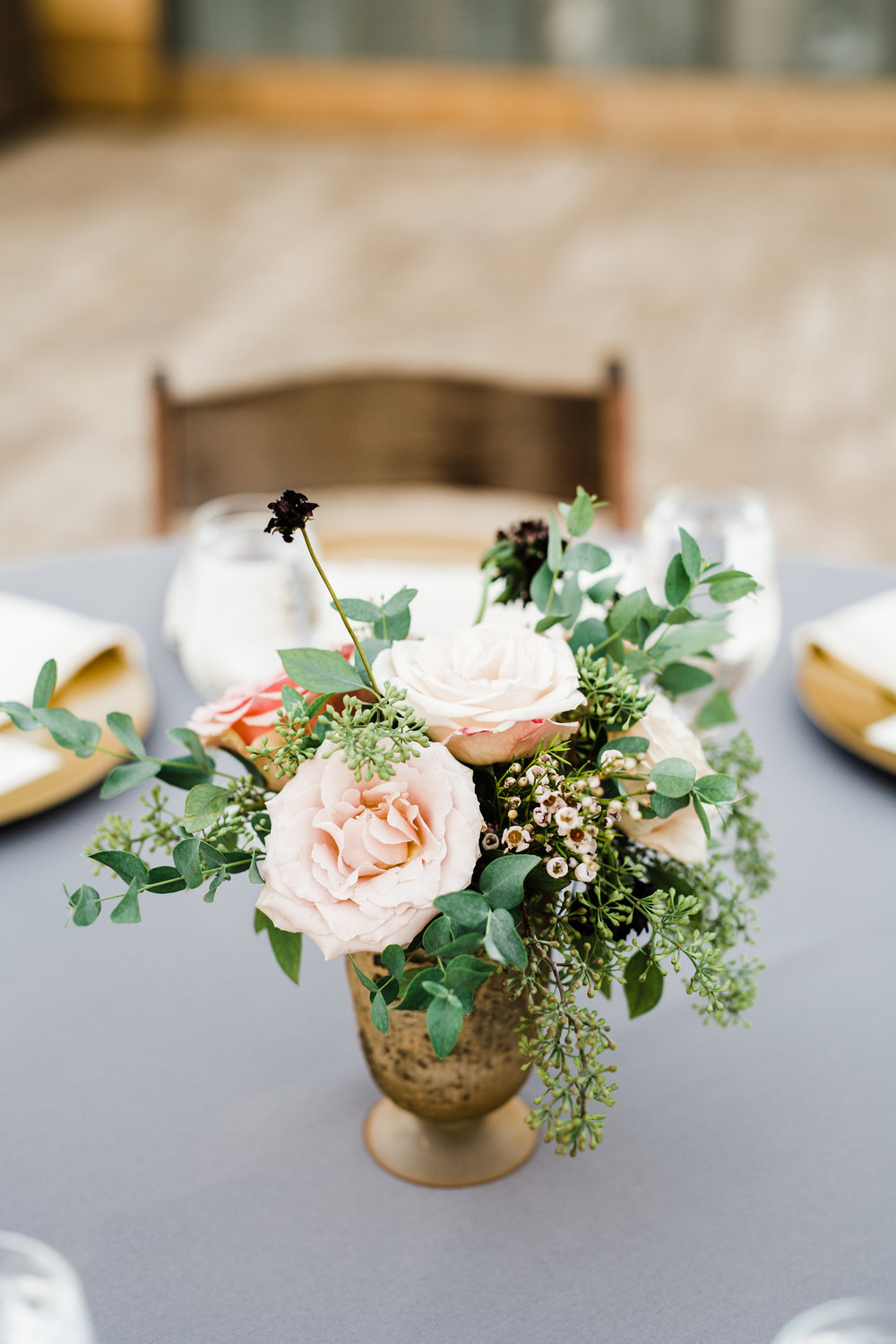 Greenhouse Wedding Reception in Nashville // Natural Floral Design