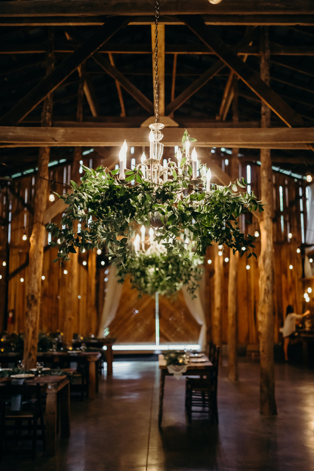 Greenery chandeliers // Nashville Wedding Flowers