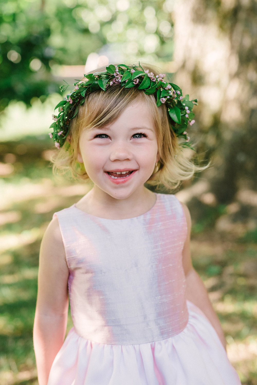 Dainty flower girl crown // Nashville Wedding Florist