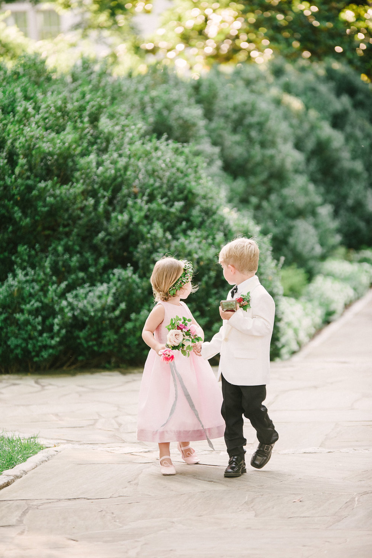 Flower girl and ring bearer // Belle Meade Plantation Garden Wedding
