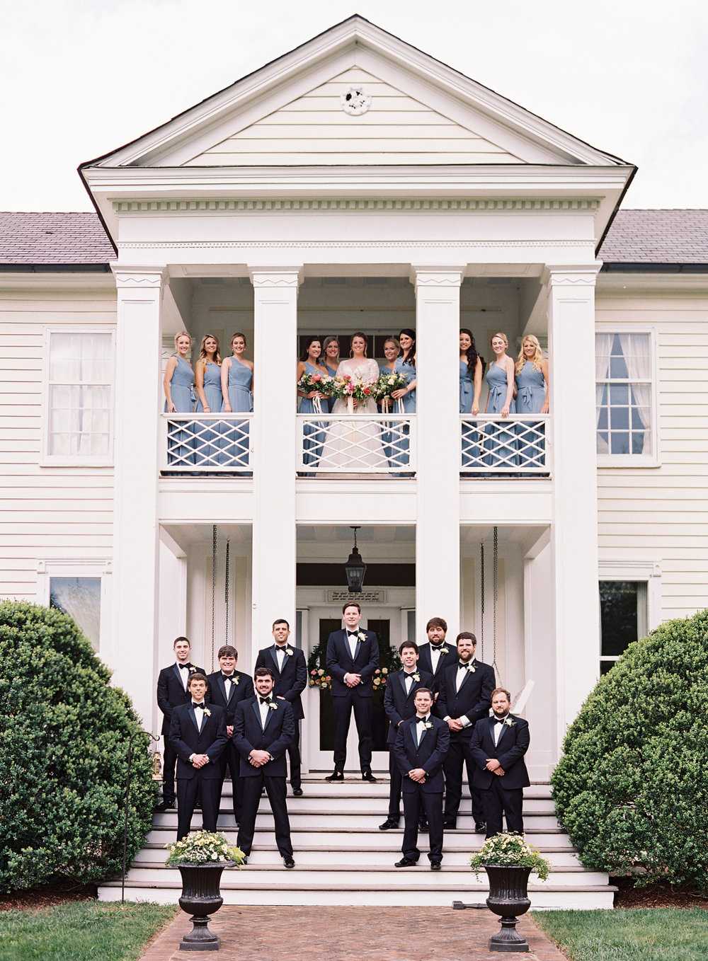Bridal Party Portraits at the bride's childhood home in Franklin, TN