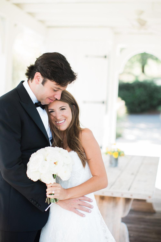 Simple white bridal bouquet // Blackberry Farm Wedding Flowers