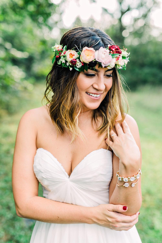 Boho bride's flower crown // Southeastern Wedding Florist