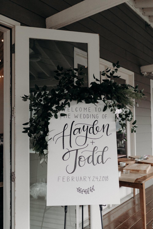 Lush greenery garland for wedding welcome sign // Nashville Floral Design