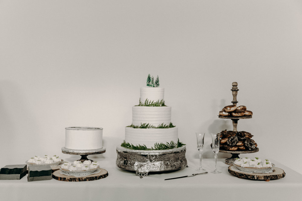 Dessert Table with winter theme  // Nashville Wedding Florist