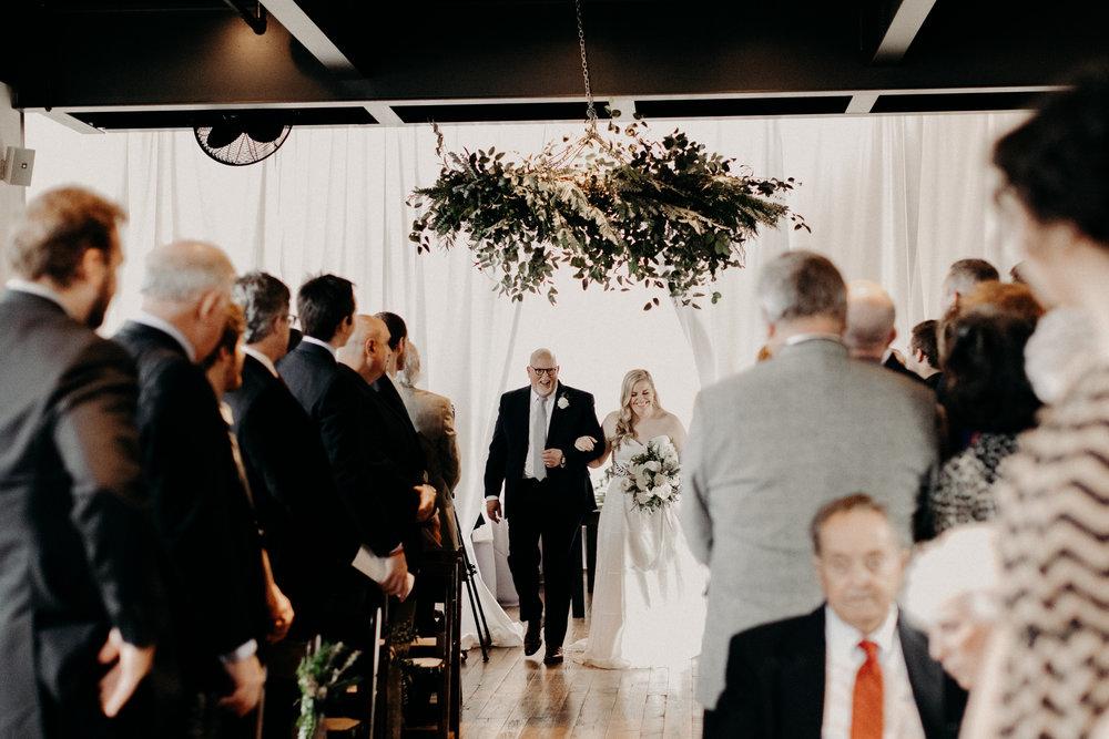 Lush greenery covered oversized wreath  // Nashville Wedding Florist
