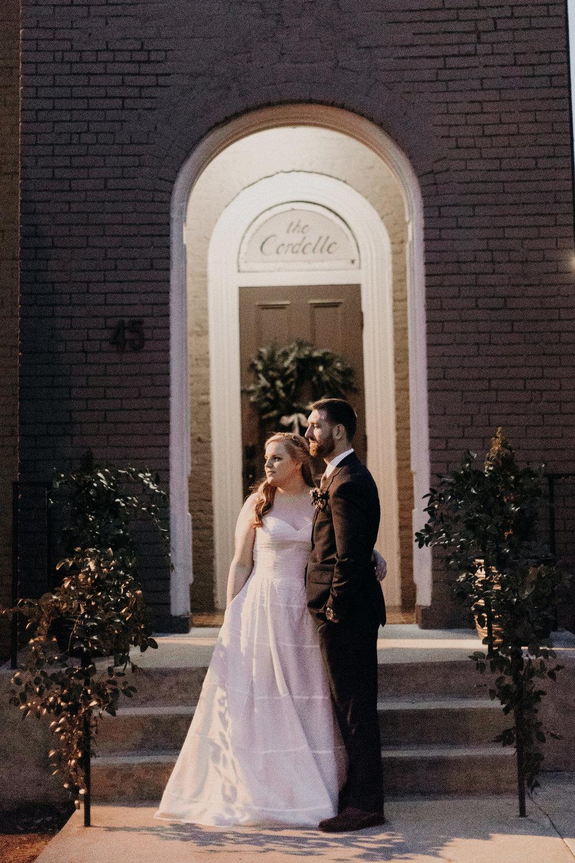 Natural greenery trailing down the railings  // Nashville Wedding Florist