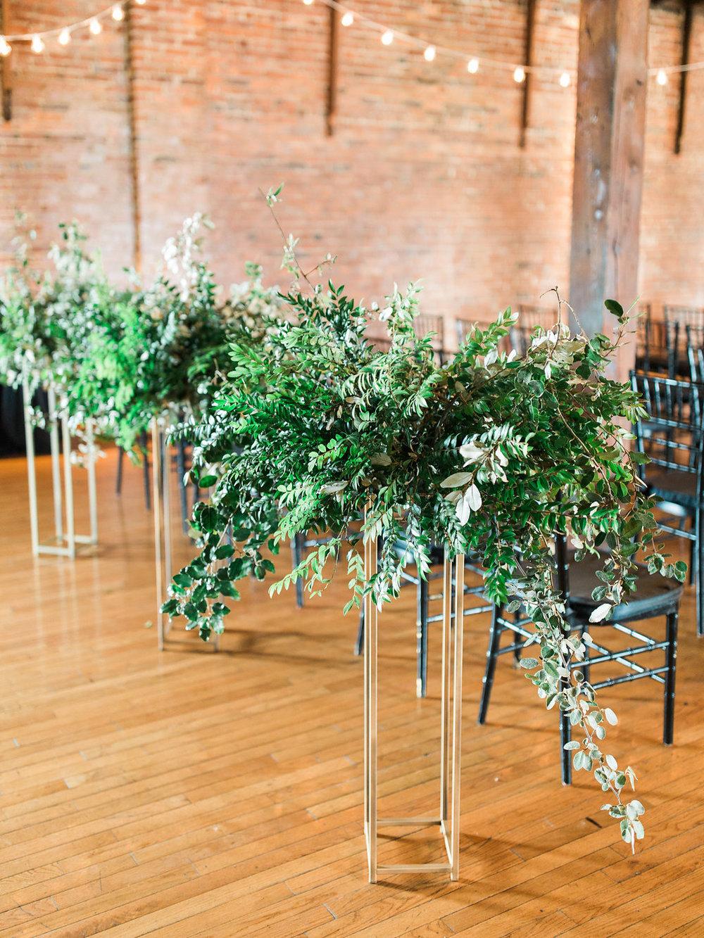 All greenery statement arrangements // Tennessee Wedding Florist