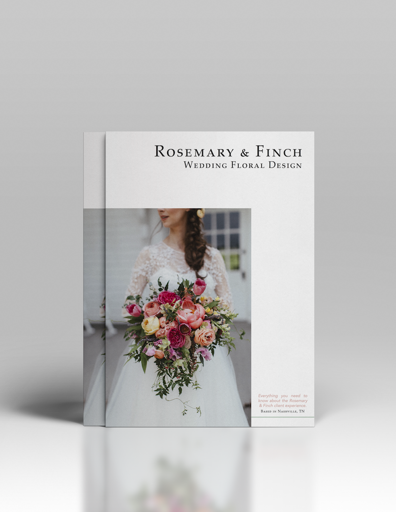 Rosemary & Finch Magazine // Nashville Wedding Florist Information