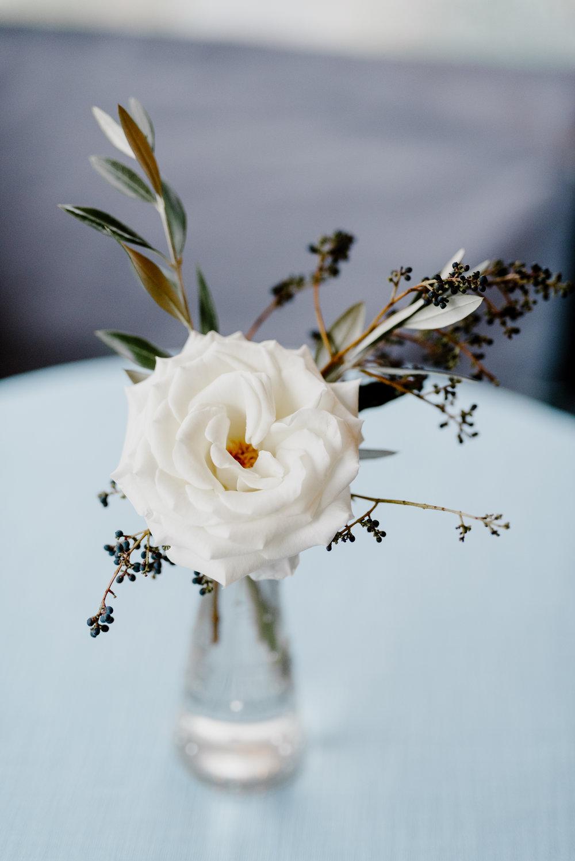 Simply autumnal bud vase // Southeastern Wedding Florist