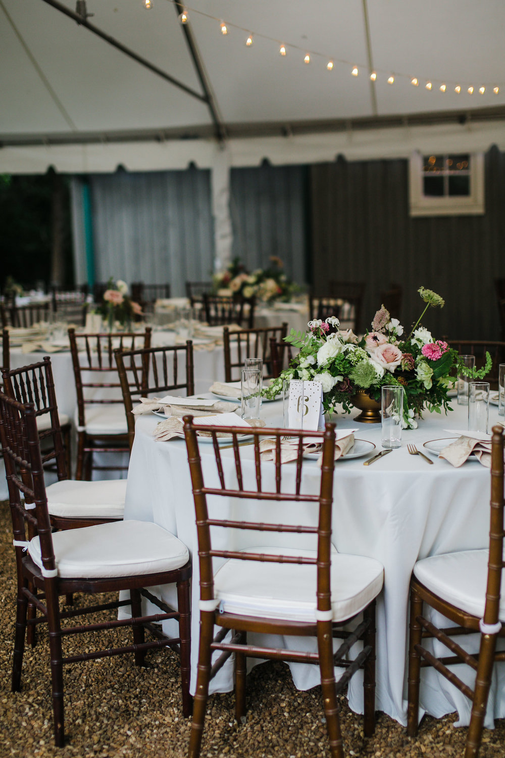 Garden party wedding with neutral, muted flowers with airy, whimsical greenery and texture // Southeastern Wedding Florist