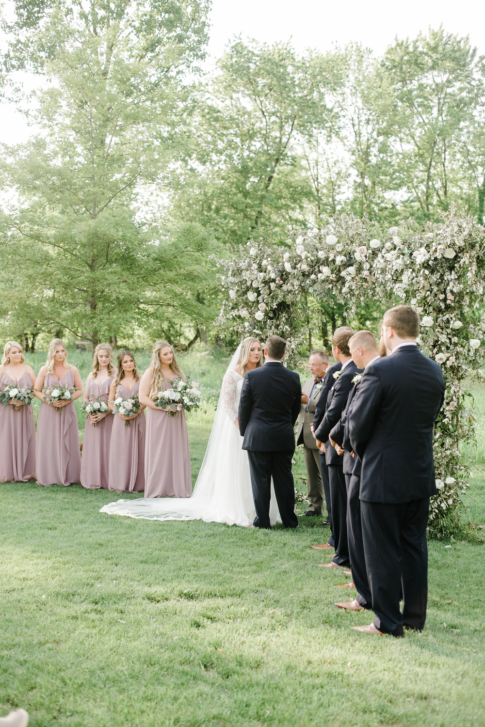 Natural, organic floral arch for the wedding ceremony backdrop // Nashville Wedding Florist