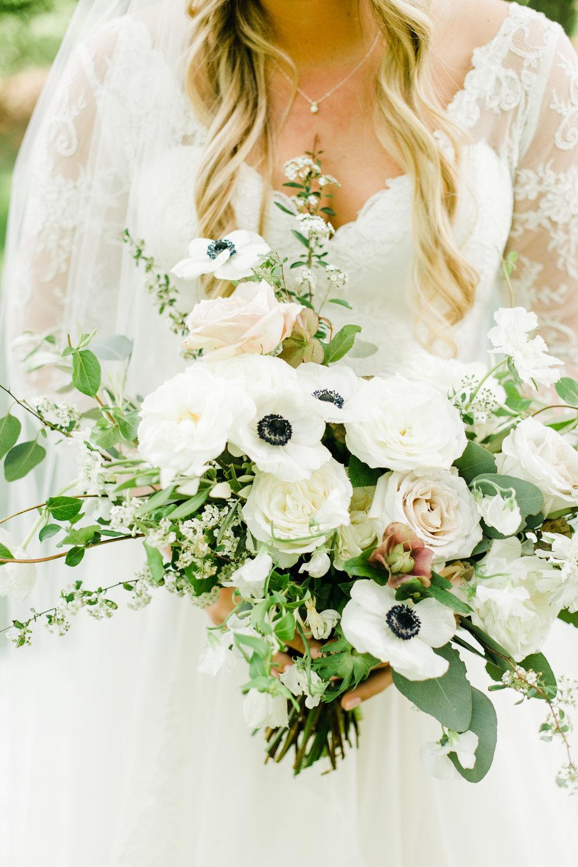 Spring bridal bouquet with blush and cream color palette // Nashville Wedding Floral Design