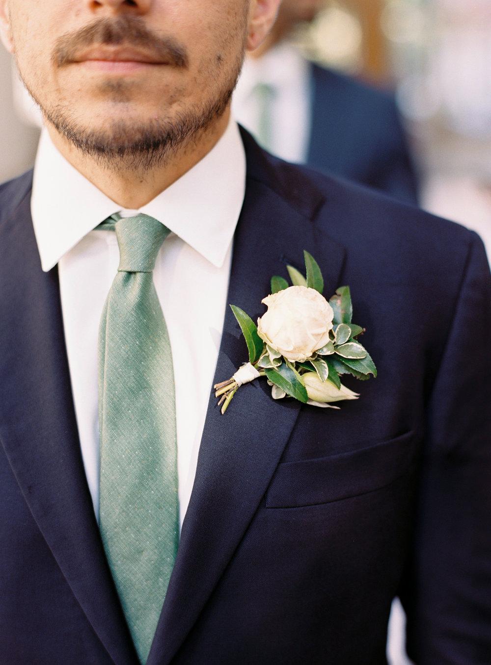 Garden inspired boutonniere // Nashville Botanical Garden Wedding Flowers
