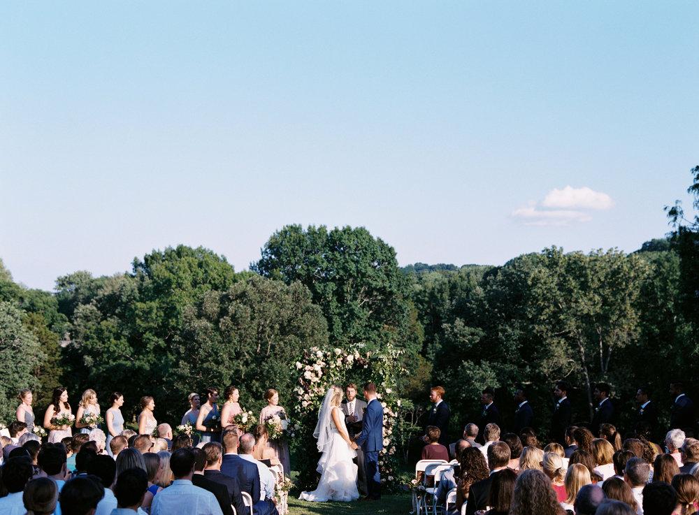 June wedding ceremony at Cheekwood botanical garden // Nashville, TN and Southeastern Wedding Floral Designer