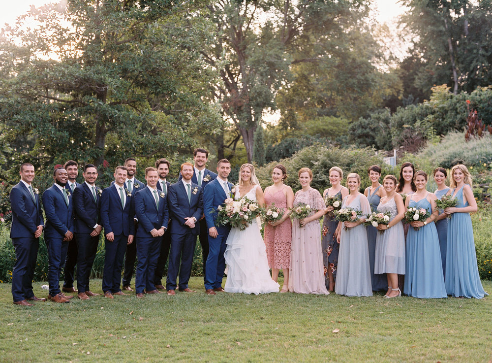 Bridal party at Cheekwood Botanical Gardens // Nashville, TN and Southeastern Wedding Florist
