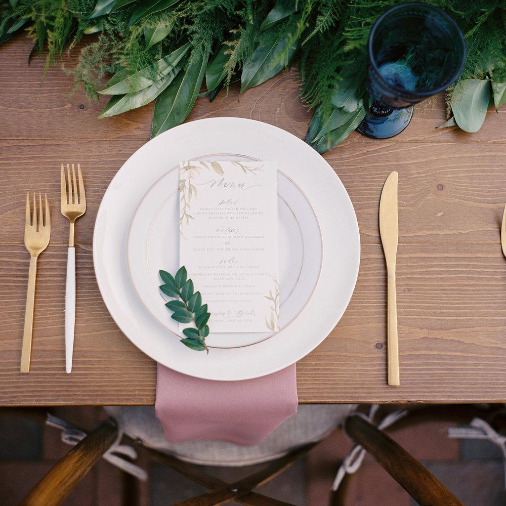 Lush greenery garland centerpiece // Tennessee Wedding Floral Design