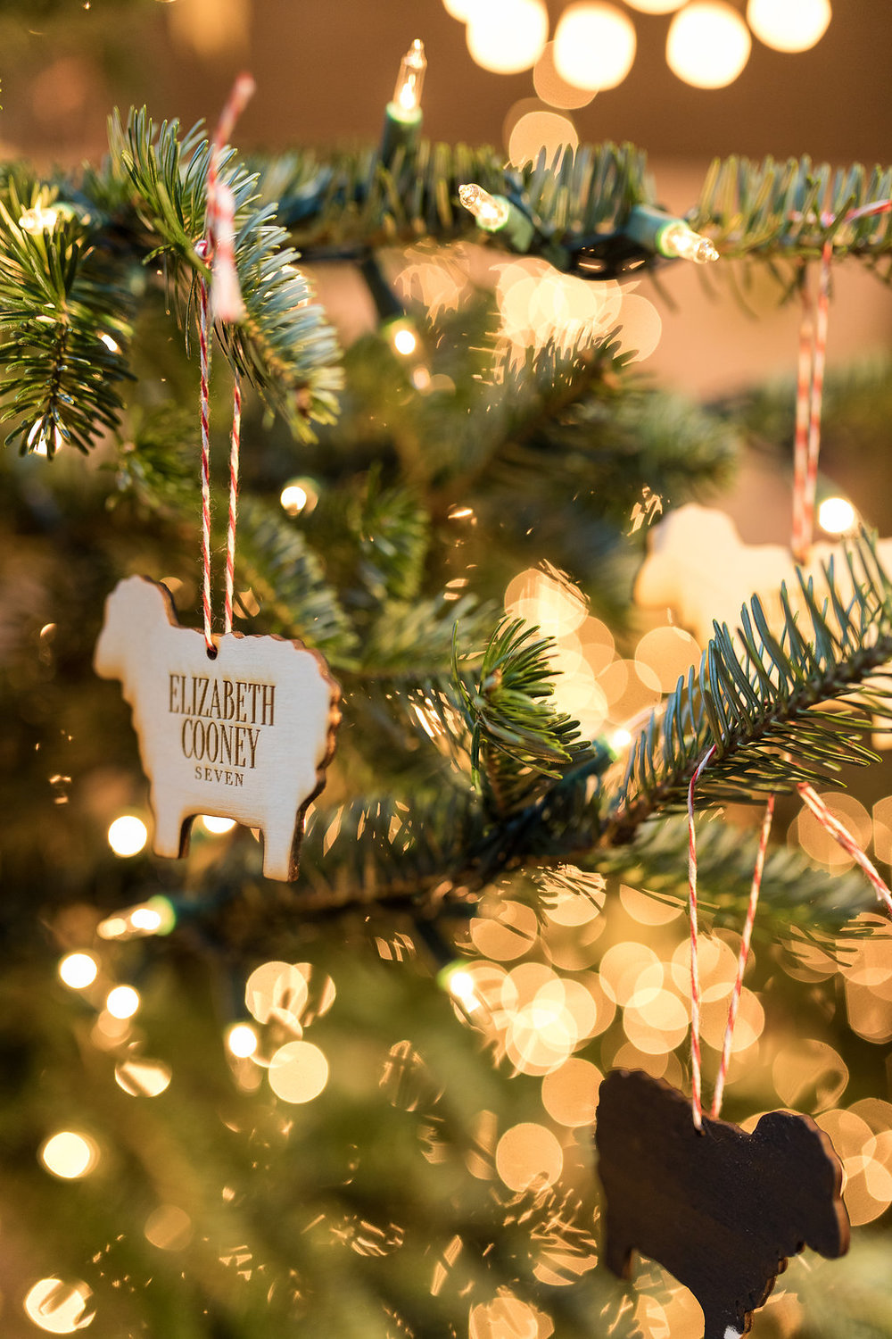 Sheep ornament place cards // Blackberry Farm Wedding