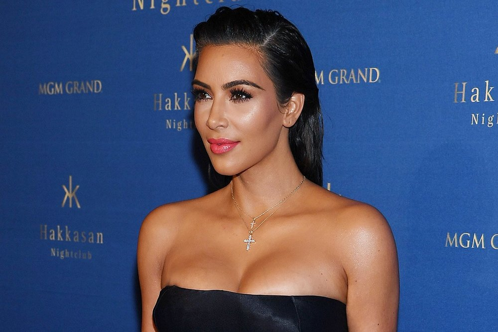 Kim Kardashian Layered Diamond Cross Necklaces