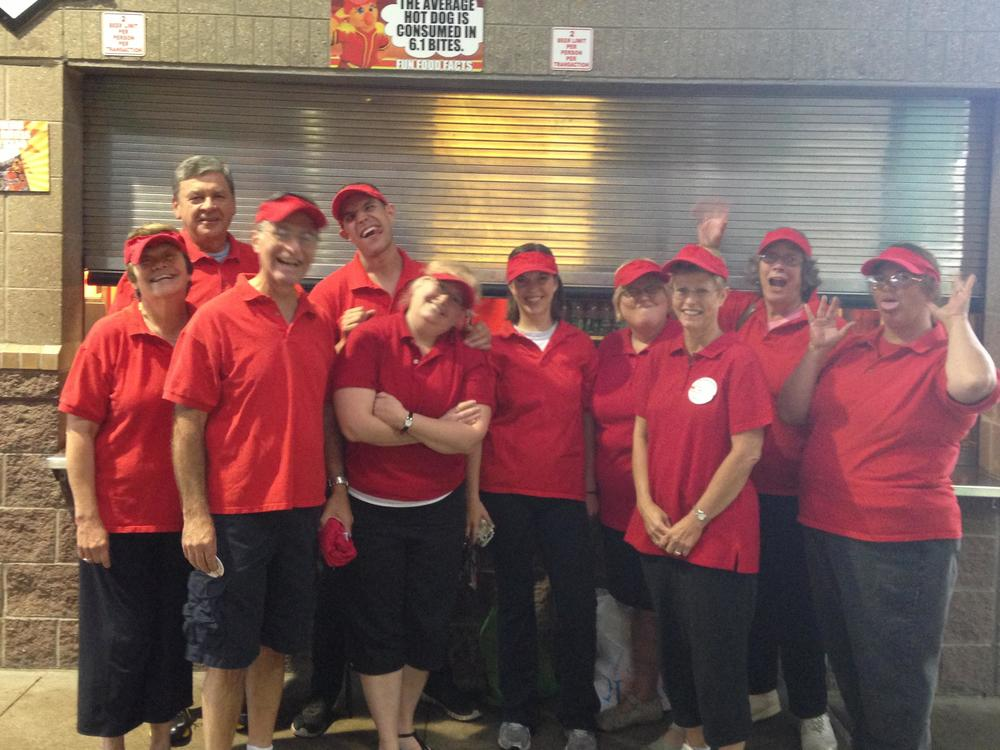 Volunteers at Frontier Field