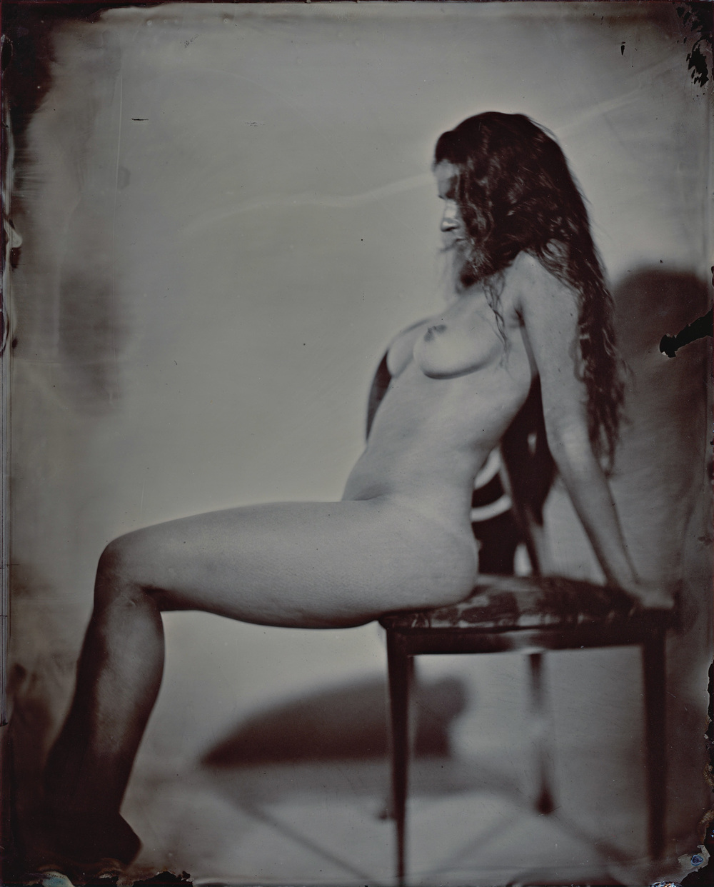 "8""x10"" Ruby glass Ambrotype"