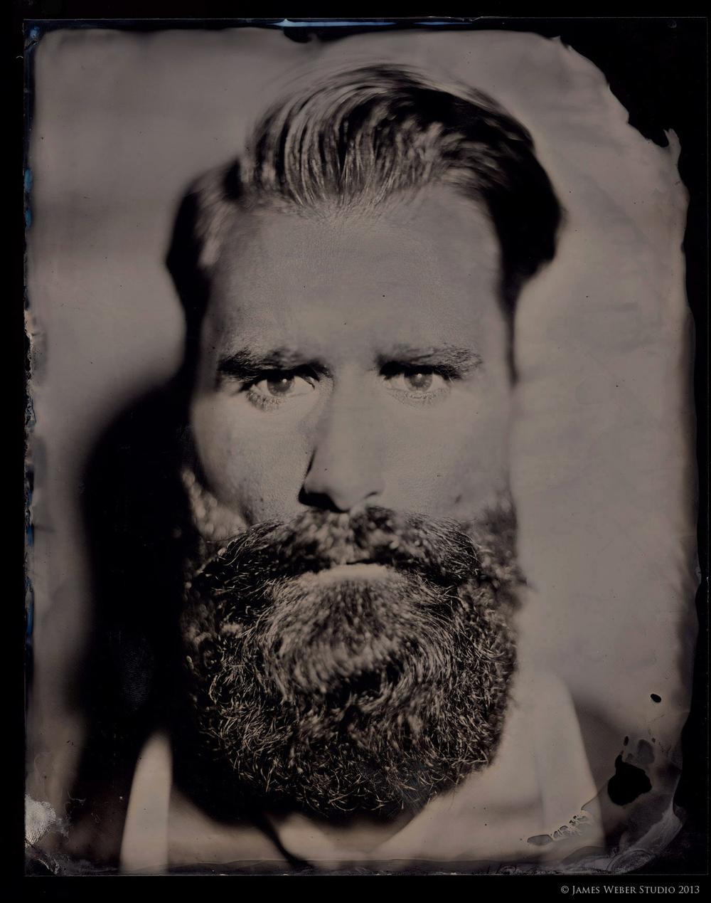 "Model: Luke Ditella @ Fusion NYC.  Bowtie by David Hart  8""x10"" on Black Aluminum.  © James Weber 2013."