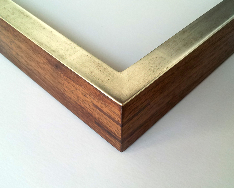 Plasteel/CDGS 682 Walnut Frame, Double Splined with   12kt White Gold, Water Gilded over German Bole  Finish and Oiled Sides