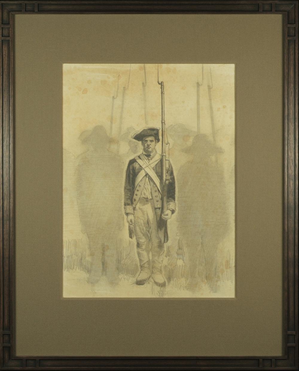 "The Patriot    Graphite on Paper ( Framed )  21 1/4"" x 17"" Frame O.D.    SOLD"
