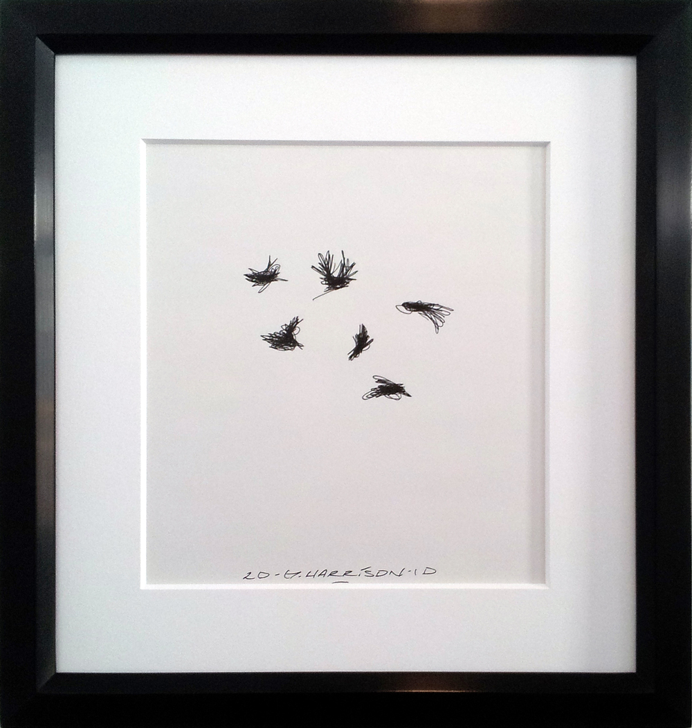 "Untitled Drawing ( 2010 )    Ink on Paper ( Framed )  Frame O.D. 16"" x 14""    $1,050"