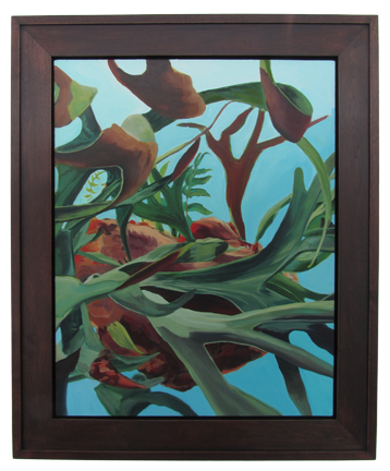 "Elk Horn Fern Oil on Canvas, Signed 30"" x 24"" / 37 1/4"" x 31 1/4"" Framed ( Plasteel Frame ) $4,800"