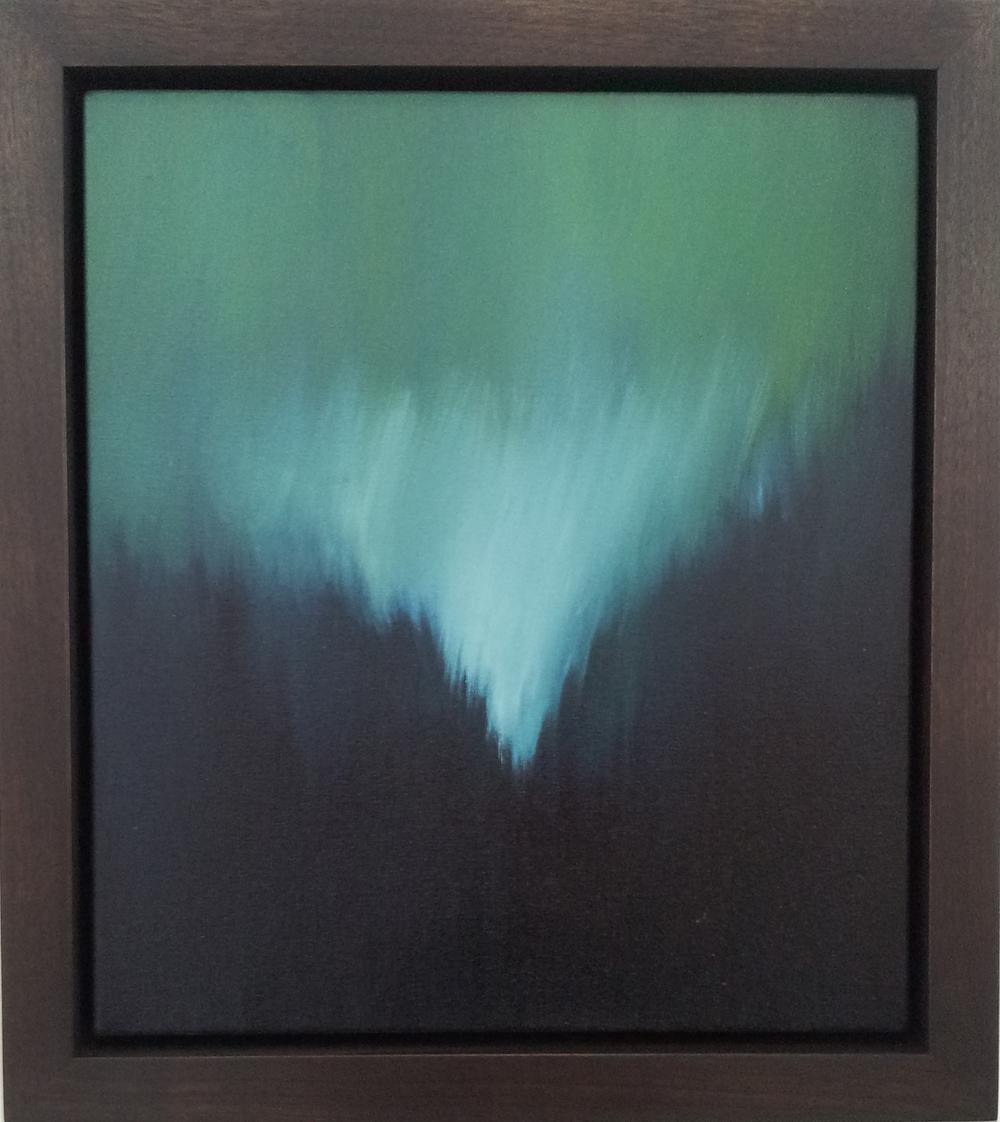"Untitled, Breathwork Oil on Canvas, Signed on Verso 16"" x 14"" / 19"" x 17"" Framed ( Plasteel Frame ) $2,100"