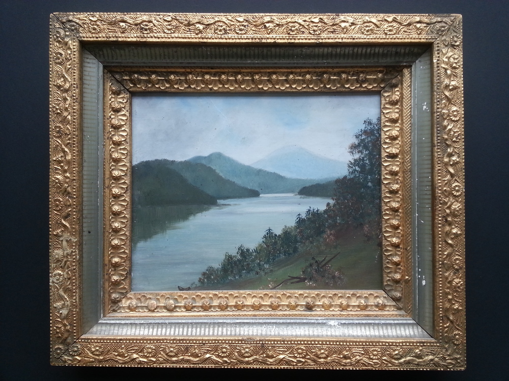 "River View    Oil on Academy Board, Unsigned  8"" x 9 3/4"" /  12 1/2"" x 14 1/2"" Framed ( Period Frame )    Price Available Upon Request"