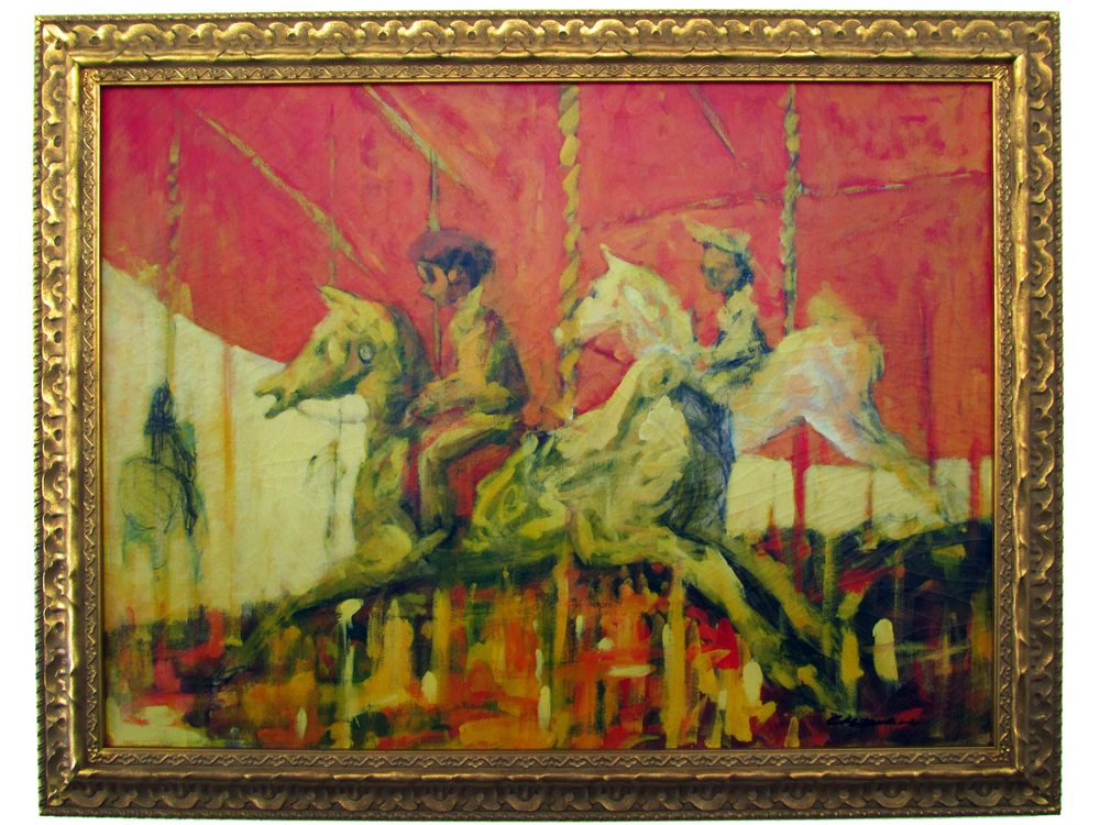 "Carousel Oil on Canvas, Signed ( l.r. ) ""Caldwell"" 32"" x 40"" / 37"" x 45"" Framed  Price Available Upon Request"