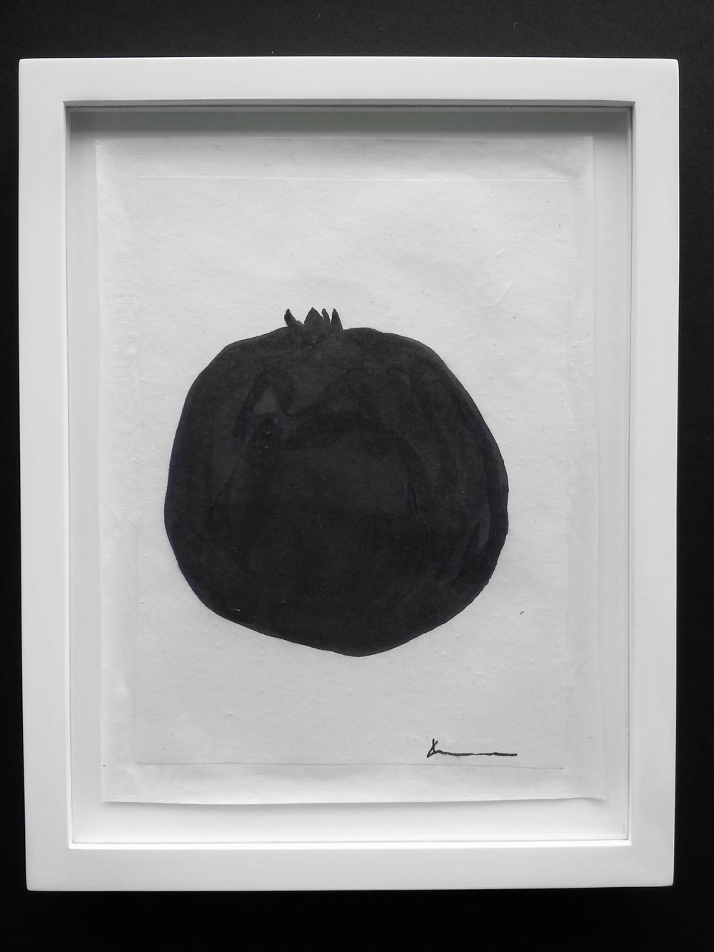 Pomegranate   Sumi, Color on handmade paper   SOLD