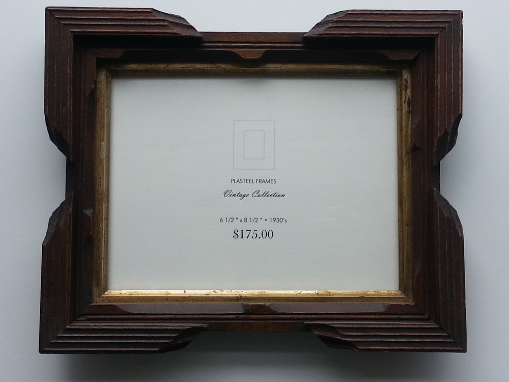 "Antique Key Corner Frame, 1930's Frame R.S. 6 1/2"" x 8 1/2"" / Frame O.D. 9 1/4"" x 11 3/8"" $175 Available"