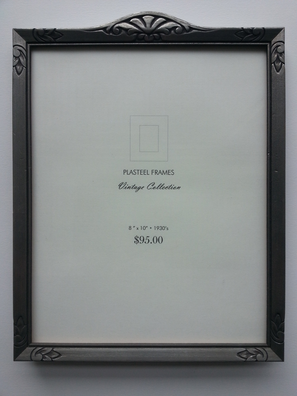 "Antique Silver Pressed Frame, 1930's Frame R.S. 10"" x 8""   SOLD"