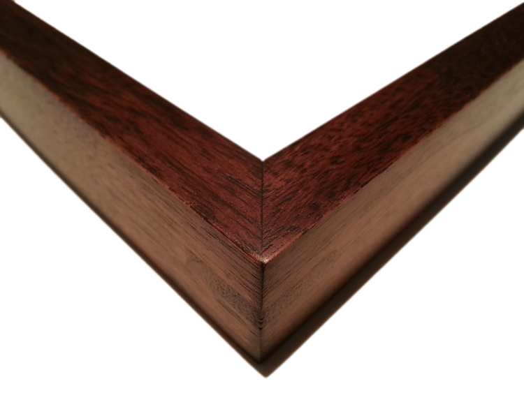 "708 Walnut, Single Wood-Splined Corners    1/2"" (W) FACE x 7/8"" (D) DEEP O.D."