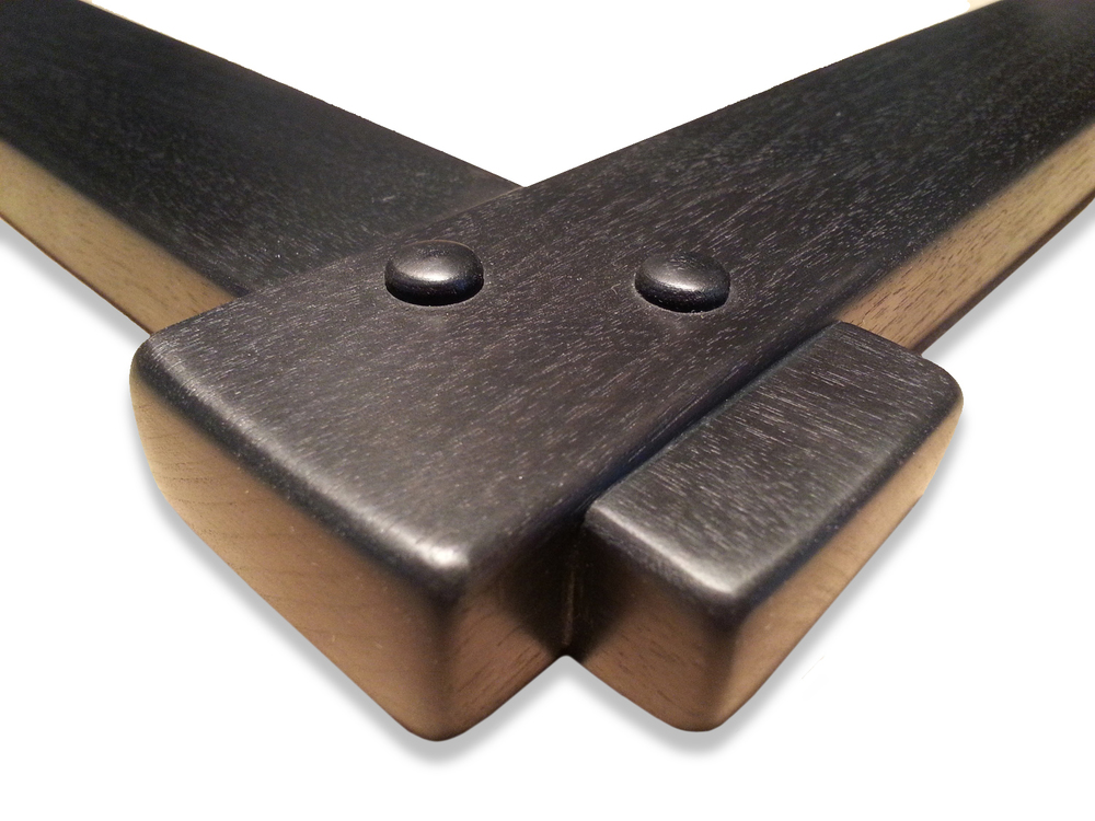 "1 3/4"" Walnut, Cross Corner Lap Joint, ( 2 ) Peg Corners    1 3/4"" (W) x 3/4"" (D) DEEP O.D."