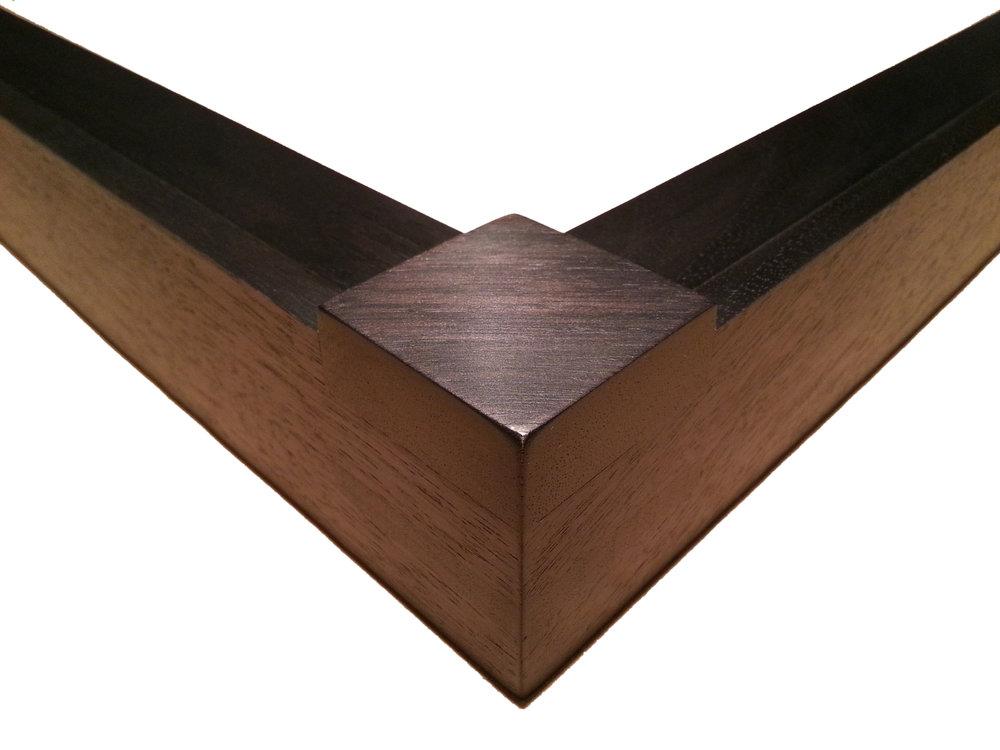 """112134 Walnut, Block Corner    1 1/2"""" (W) x 1 3/4"""" (D) O.D."""