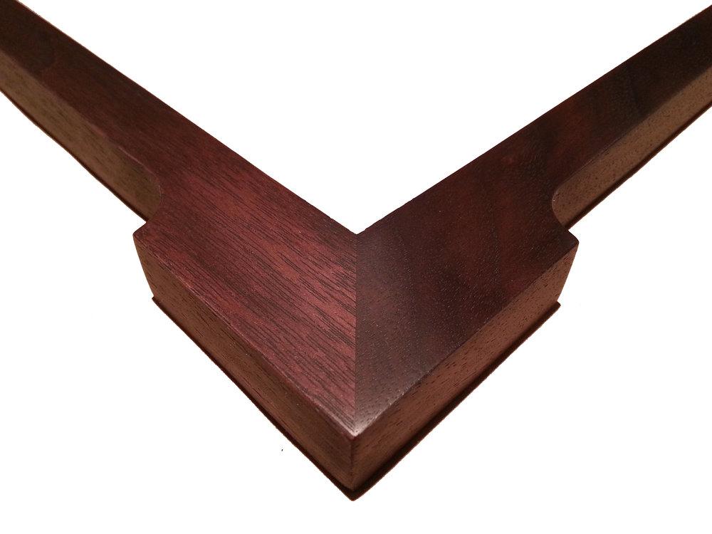 """1 1/4"""" Walnut, Arrowhead    1 1/4"""" (W, at Corners) x 3/4"""" (D) O.D."""