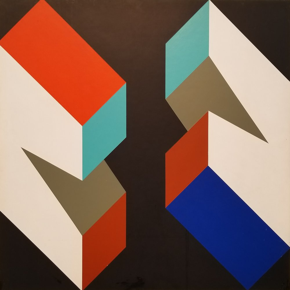 "Richard F. Dahn (American, b. 1932)     Color Structure  (1969)    Acrylic on Panel    24"" x 24""    $3,750"