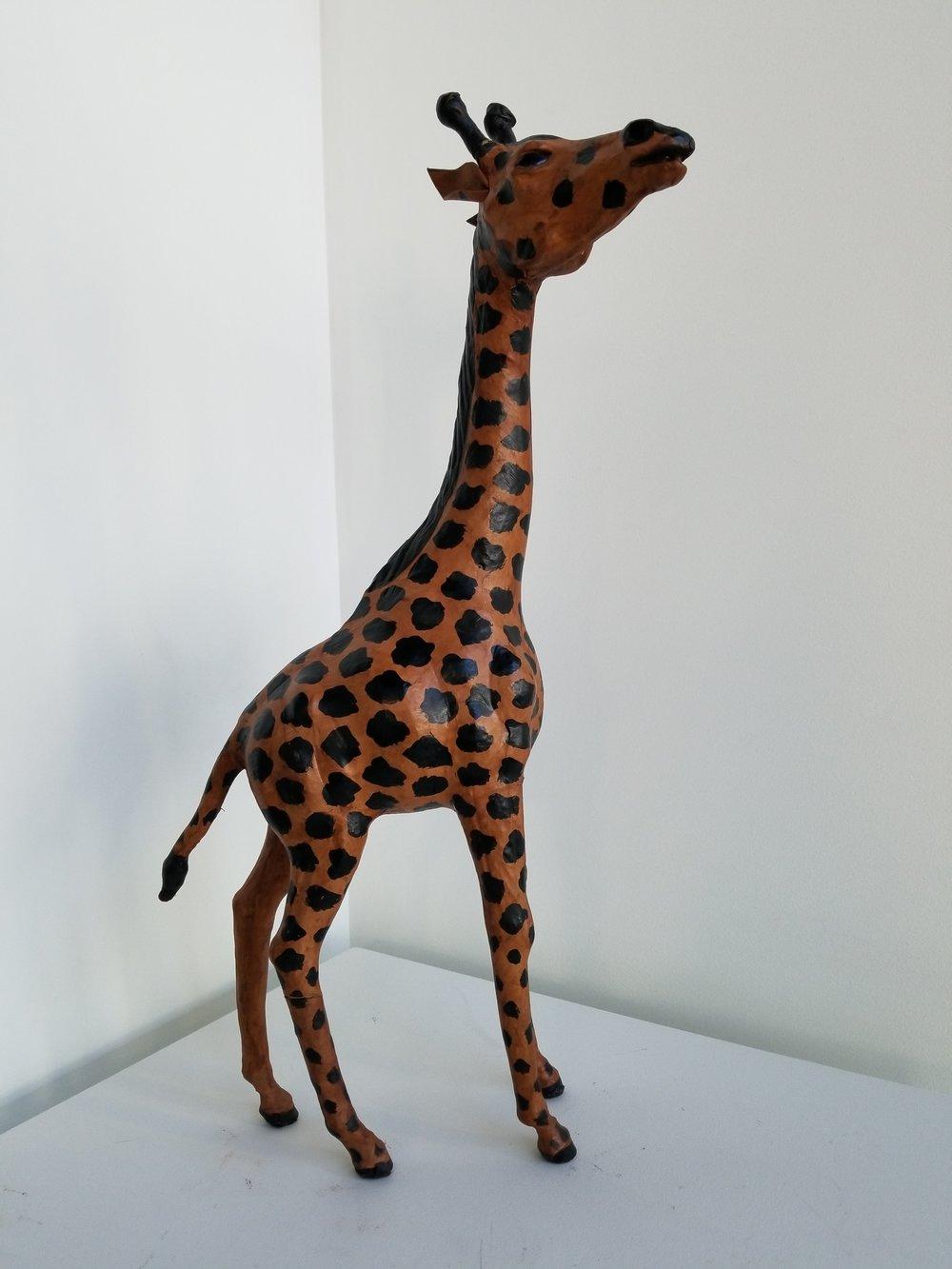 """African Giraffe Sculpture    Approx. Size 11"""" (L) x 6"""" (W) x 20"""" (H)    $250"""