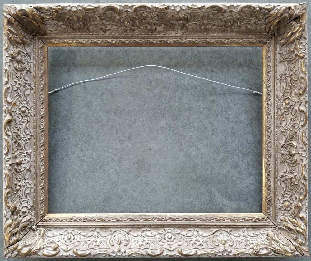 """Antique Frame / Opening 11 1/8"""" x 14 1/8"""" / O.D. 15"""" x 18""""    $650"""