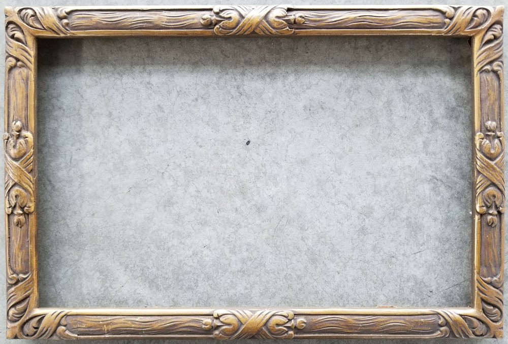 """Antique Frame / Opening 7 1/8"""" x 11 1/8"""" / O.D. 8"""" x 12""""    $375"""