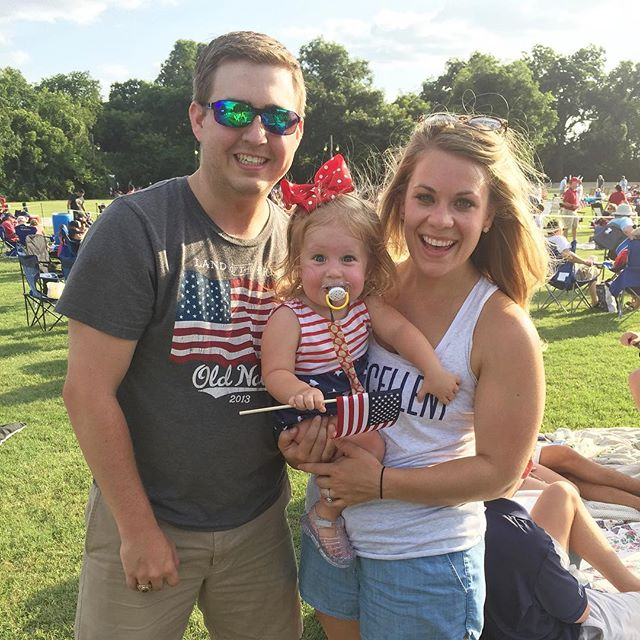 I'm so incredibly thankful for this day, and for the sacrifice of others that allows us to celebrate freely with family and yummy food and sunshine and fireworks. there's no one else  I'd rather sweat like crazy with! 🎆 PS: Texas is hot. ☀️ #allthesweat #GodBlessAmerica . . . . . . . . . . #ourlittlefamilyblog #toddlerlife #ourlittlefamilyadventures #communityovercompetition #christianmom #fourthofjuly #july4th #christianmama #choosejoy #fireworks #freedom #fireworks #america #texcellent #thankful