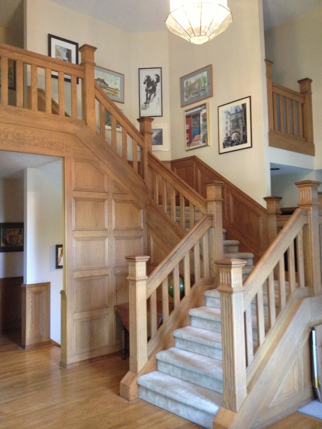 Golden oak staircase (the before picture)