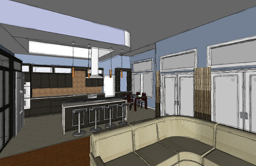 Rendering of a JBi designed kitchen in Orlando, FL