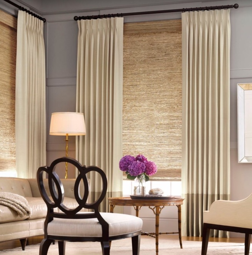 Pinch pleat - design by Alluring Window NYC