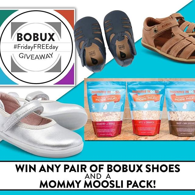 did you catch our FB page this morning? we're huge fans of @bobuxusa - they're Lorelei's favorite shoes! head over there to enter to win a pair of shoes & a set of #mommymoosli as well! 😁🎁